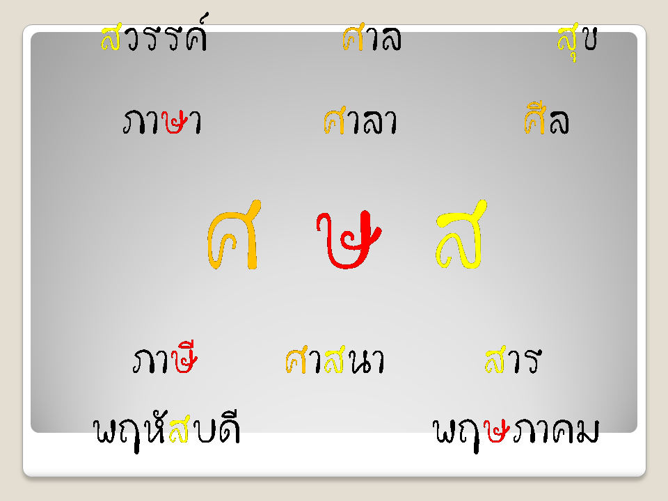 Do you know why we have ศ ษ ส in Thai?