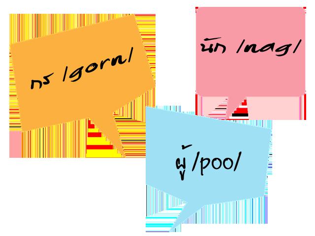 Do you know any Thai prefixes andsuffixes?